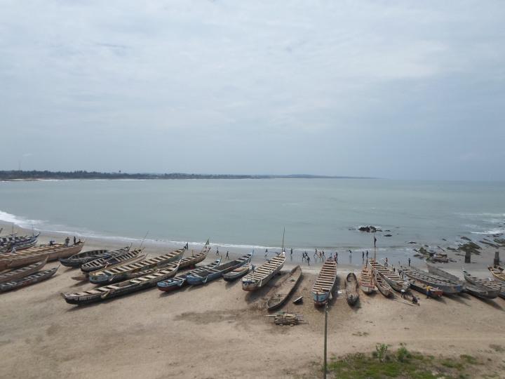 Barcos de Cape Coast, Ghana, Cássio Serafim, 2013.